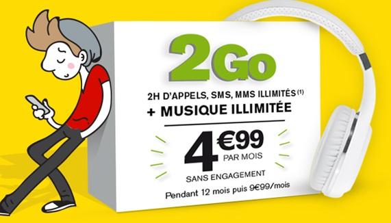 Le forfait sans engagement La Poste Mobile avec 2Go à moins de 5 euros prolongé