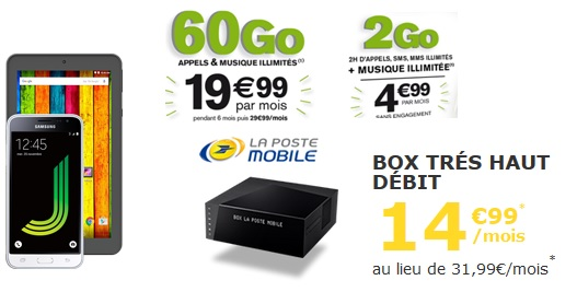 les bons plans la poste mobile tablette offerte forfaits pas chers avec un max de data box. Black Bedroom Furniture Sets. Home Design Ideas