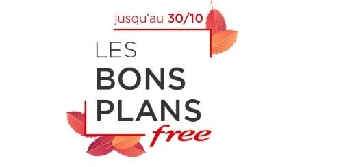 Les bons plans Free valables jusqu'au 30 Octobre 2018