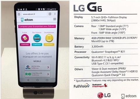 Le LG G6 soldé avec un forfait SOSH (remise exceptionnelle de 200 euros )