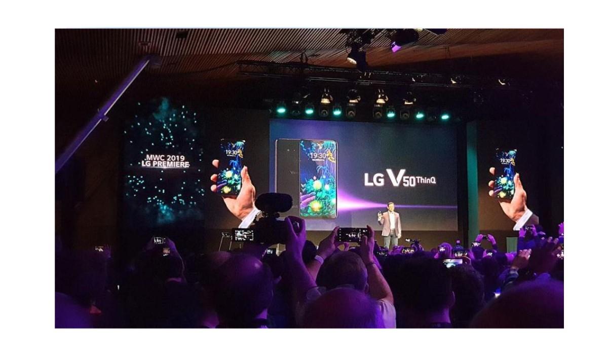Le LG V50 ThinQ présenté au MWC 2019 !