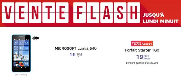 lumia 640 à 1€ chez SFR