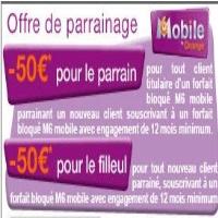 parrainage m6 mobile 50 euros rembours s. Black Bedroom Furniture Sets. Home Design Ideas