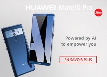 Le Huawei Mate 10 Pro en promo chez Bouygues Telecom