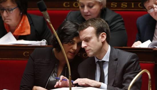 Emmanuel Macron et Myriam El Khomri