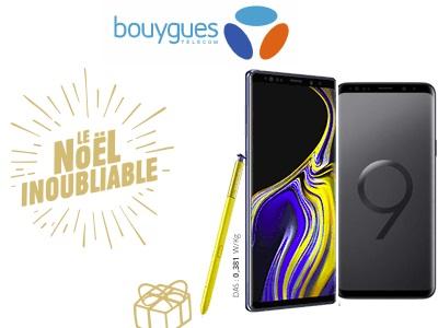 🎁Noël : les Samsung S9+ et Galaxy Note 9 à prix réduits chez Bouygues Telecom