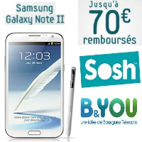 Promotion : Samsung Galaxy Note 2 chez B&You et Sosh