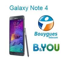 Le Samsung Galaxy Note 4 disponible chez Bouygues Telecom et B&You !