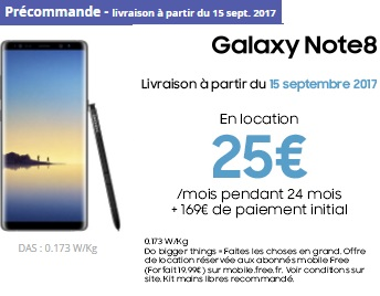 Galaxy note 8 free location