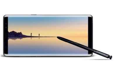 Galaxy Note 8 vue de face