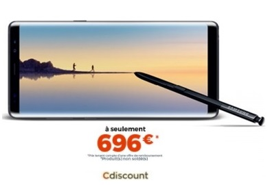 bon plan le samsung galaxy note 8 696 euros chez cdiscount. Black Bedroom Furniture Sets. Home Design Ideas
