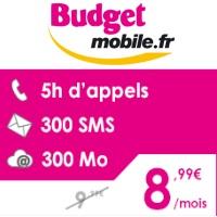 Un nouveau forfait avec 5h d'appels chez Budget Mobile !