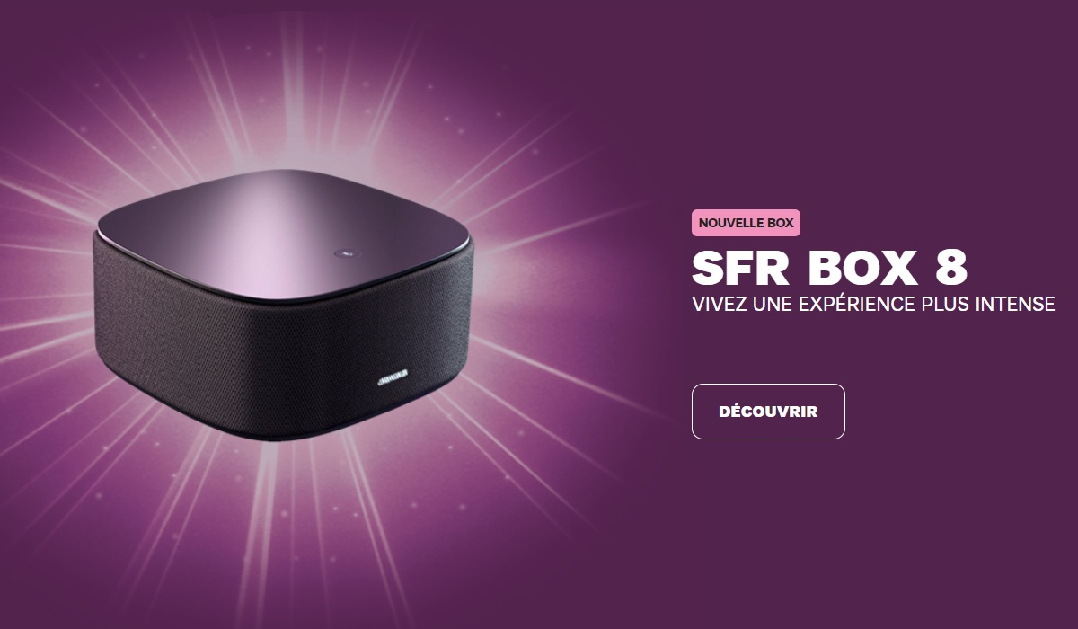 photo de la nouvelle box internet SFR (box 8)