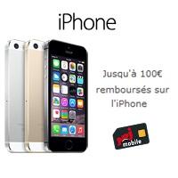 remise 100€ avec iphone chez NRJ Mobile