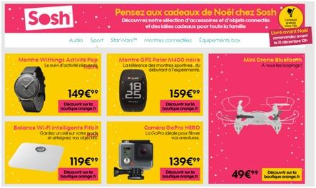 Noël : Les bonnes idées cadeaux high-tech de Sosh !