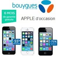 Achetez votre iPhone d'occasion à partir de 134.90€ avec la garantie Bouygues Telecom !