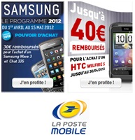 Remises exclusives sur les t�l�phones chez La Poste Mobile