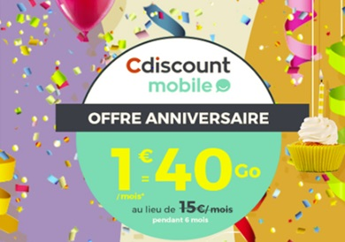Cdiscount mobile offre anniversaire