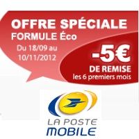 La Poste Mobile remises forfaits mobiles eco
