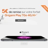 orange vous propose l 39 iphone 6 et 5 de remise sur son forfait origami play 4g 7go