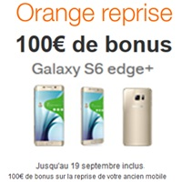 100 de bonus pour l achat du samsung galaxy s6 edge chez orange avec la reprise de votre. Black Bedroom Furniture Sets. Home Design Ideas
