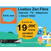 bon plan internet orange la livebox zen fibre en promo pendant 12 mois. Black Bedroom Furniture Sets. Home Design Ideas