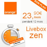Vente Flash sur la Livebox Zen d'Orange