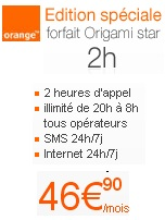 origami star orange operateur mobile