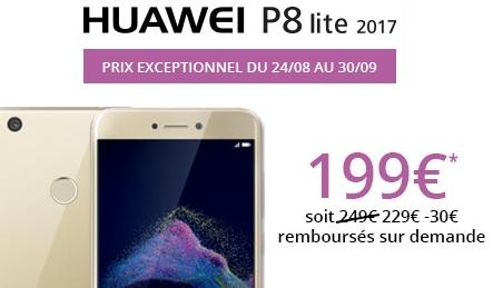 Le Huawei P8 lite 2017 en promo chez free