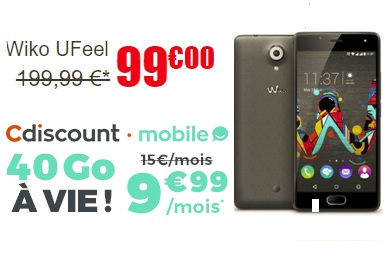 pack Wiko UFeel + forfait 40 go