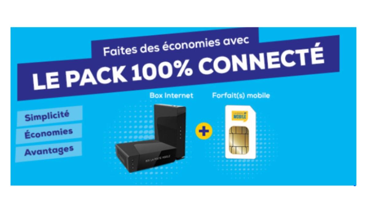 Forfait mobile + BOX Internet : Faites des économies avec le pack 100% connecté chez La Poste Mobile
