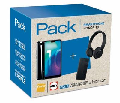 Un pack avec le Honor 10 et deux accessoires à prix mini chez Fnac