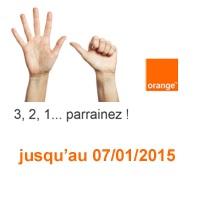 Parrainage mobile Orange :  6 mois de forfaits offerts pour le parrain et 2 mois pour le filleul