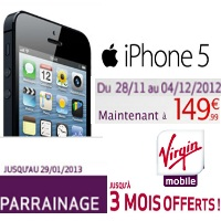 virgin mobile parrainage iphone 5