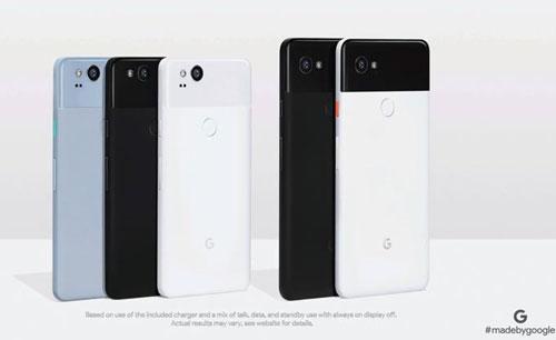 Les Pixel 2 et Pixel 2 XL de dos