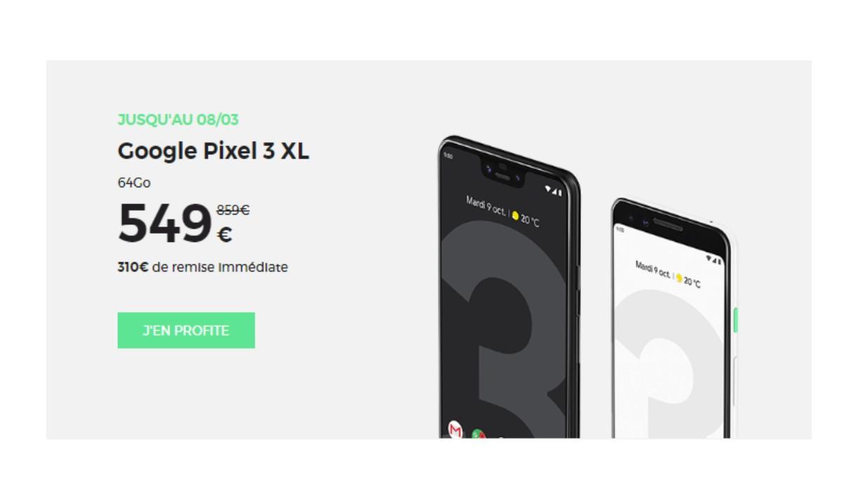 Promo RED by SFR : le Google Pixel 3 64Go remisé de 310 euros