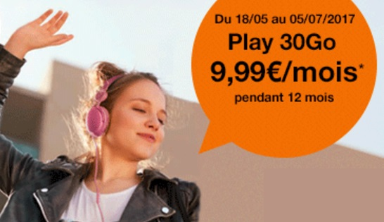 Le forfait Origami Play 30Go à 9.99€ par mois