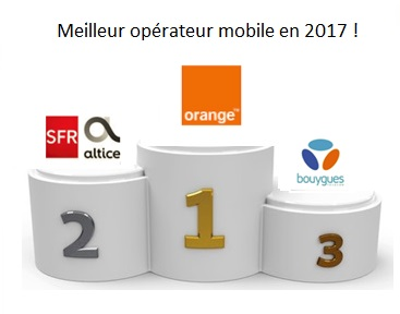 4GMark : Orange élu meilleur opérateur mobile de l'année 2017, Free Mobile dernier !