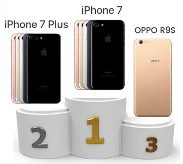 iPhone 7, iPhone 7 Plus et Oppo R9s : les smartphones les plus vendus au 1er trimestre 2017