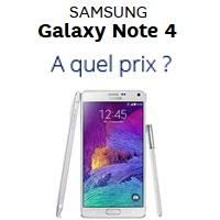 Galaxy Note 4: Quel prix chez quel opérateur ?