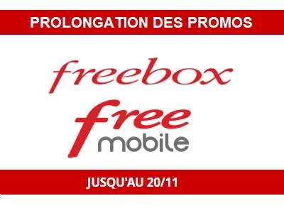 Les promos Freebox et Free mobile prolongées jusqu'au 20 Novembre 2018