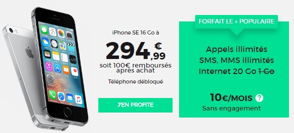 L'iPhone SE promo chez RED BY SFR