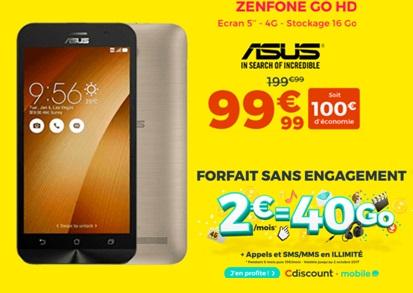 Des offres imbattables chez Cdiscount : forfait 40Go à 2 euros et des Smartphones à prix réduit