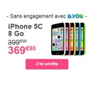 Promo sur l'iPhone 5C avec B&You de Bouygues Telecom !