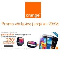 Montre Galaxy Gear + Samsung Galaxy S5 pour moins de 100€ chez Orange