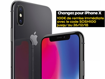 iphone X remise 100€