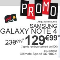 Bon Plan : Le Samsung Galaxy Note 4 à partir de 129.99€ chez NRJ Mobile !