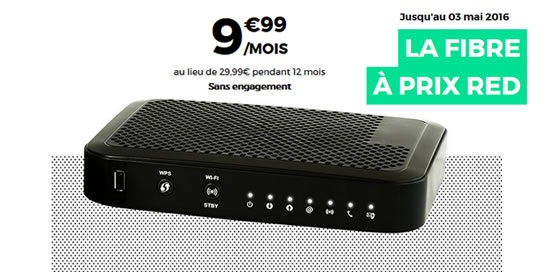 la fibre à 9.99€ chez RED By SFR