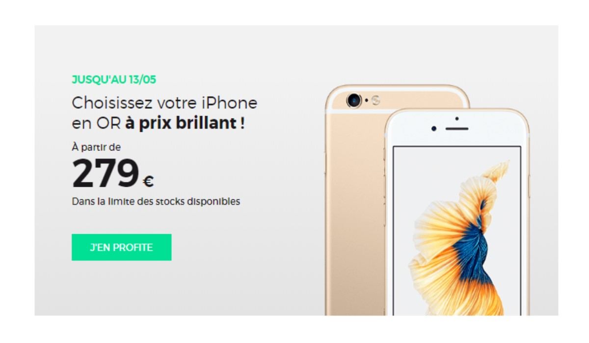 iphone visuel promo RED y SFR