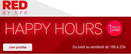 Happy hours 1 mois offert le soir en semaine chez Red by SFR